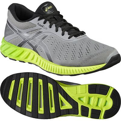Asics FuzeX Lyte Mens Running Shoes-Grey-Green