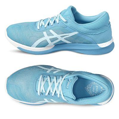 Asics FuzeX Rush Ladies Running Shoes - Blue / Side