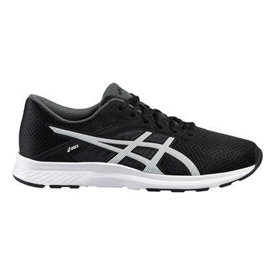 Asics Fuzor Mens Running Shoes-Black-White-Lateral