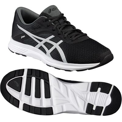 Asics Fuzor Mens Running Shoes-Black-White