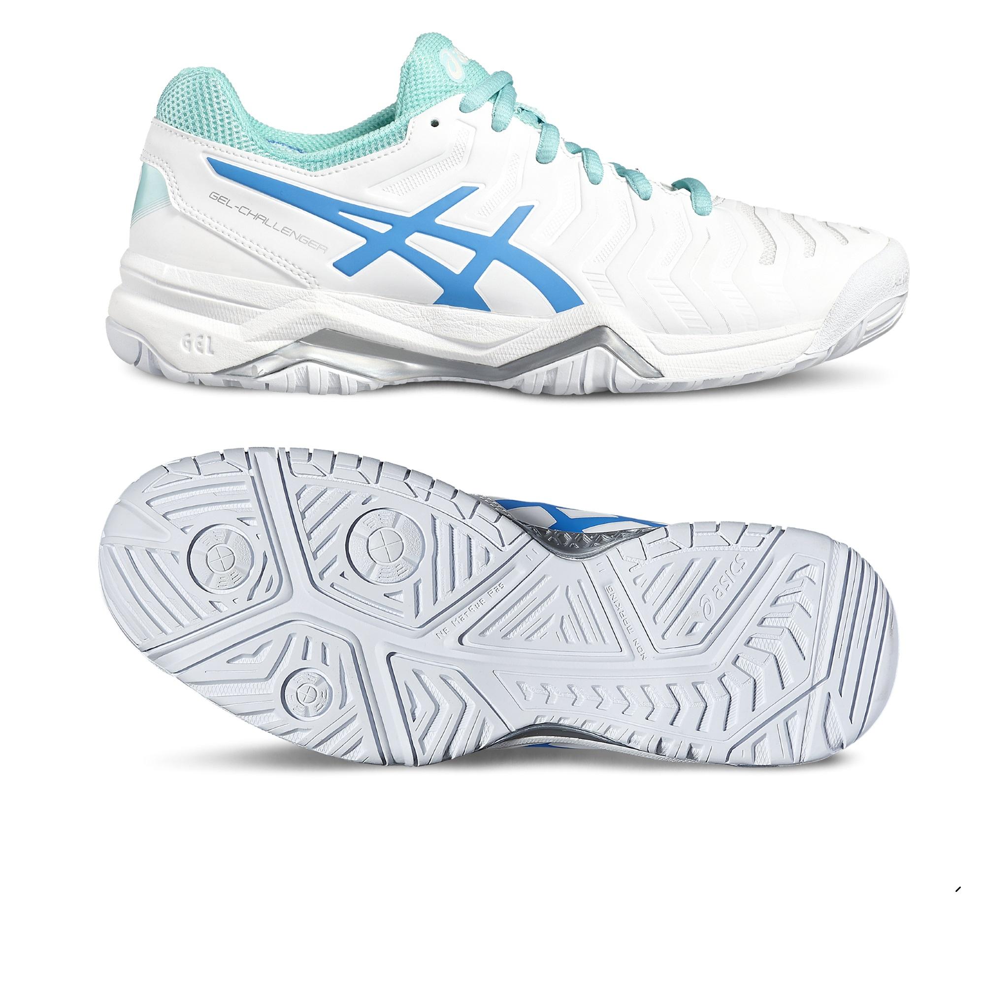 Asics GelChallenger 11 Ladies Tennis Shoes  WhiteBlue 7.5 UK