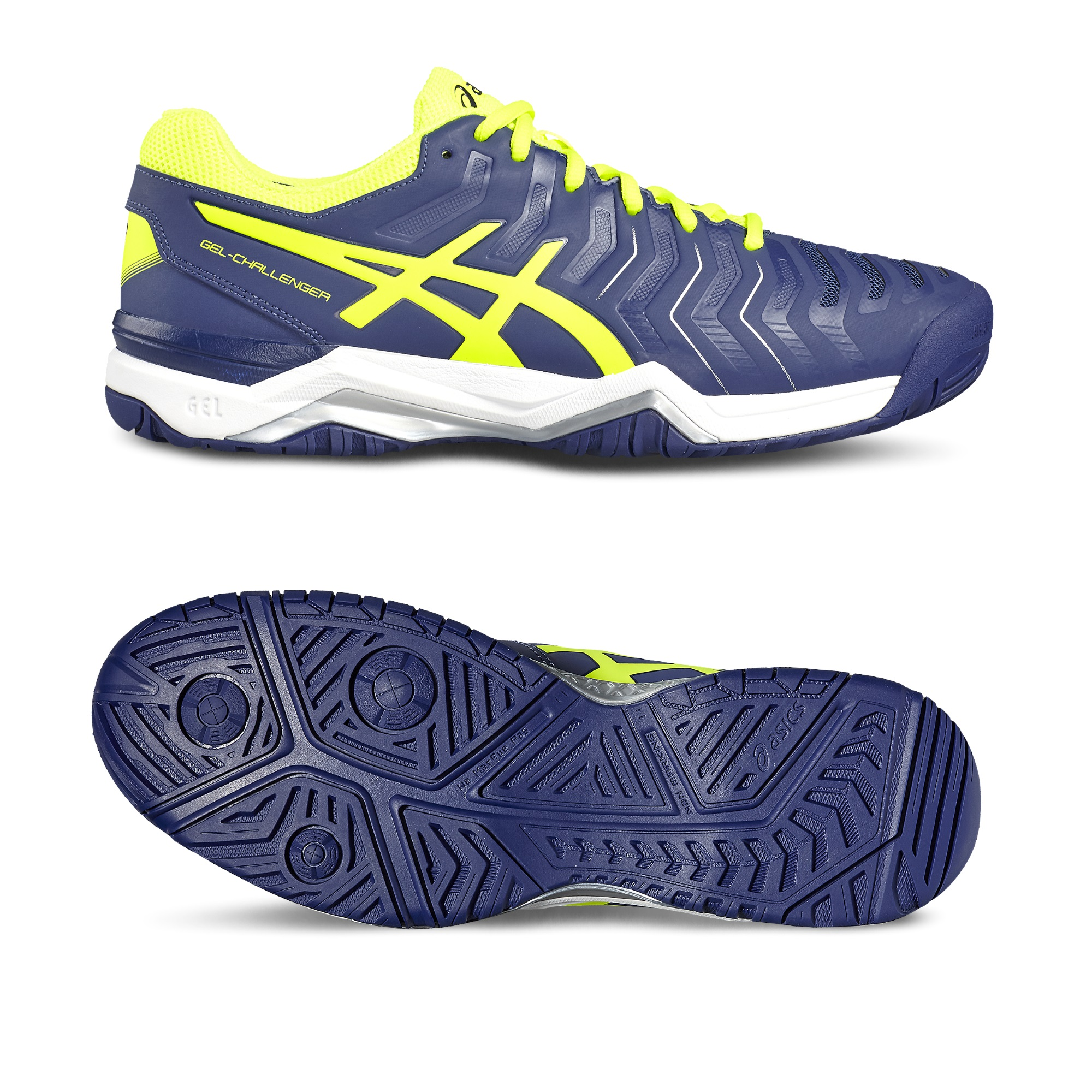 Asics GelChallenger 11 Mens Tennis Shoes  BlueYellow 8.5 UK
