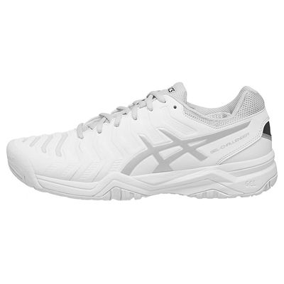 Asics Gel-Challenger 11 Mens Tennis Shoes - White/Silver - Side