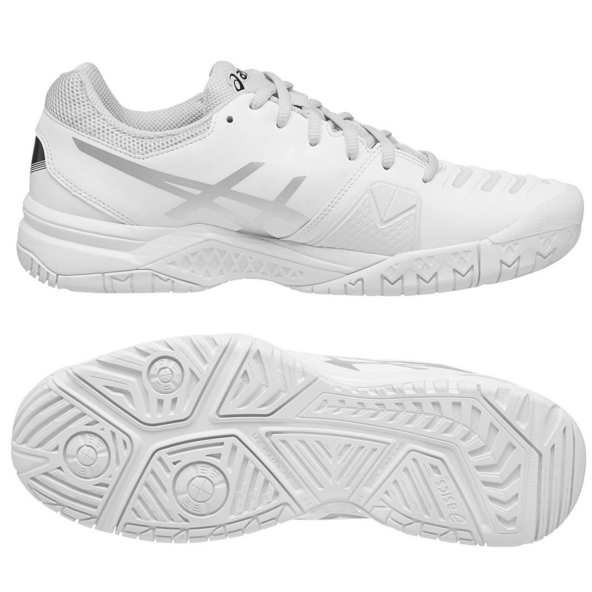 Asics GelChallenger 11 Mens Tennis Shoes  WhiteSilver 11.5 UK