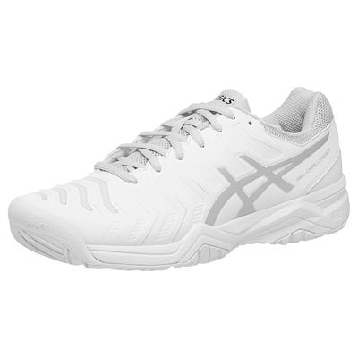 Asics Gel-Challenger 11 Mens Tennis Shoes - White/Silver - Left Side