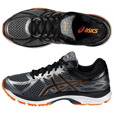 Asics Gel-Cumulus 17 Mens Running Shoes - Black/Orange - Top/Side