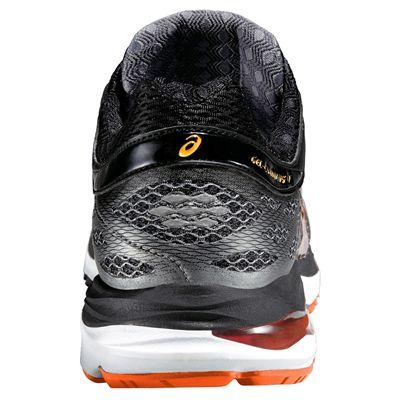 Asics Gel-Cumulus 17 Mens Running Shoes - Black/Orange - Back