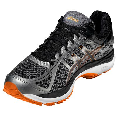 Asics Gel-Cumulus 17 Mens Running Shoes - Black/Orange - Front