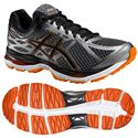 Asics Gel-Cumulus 17 Mens Running Shoes - Black/Orange
