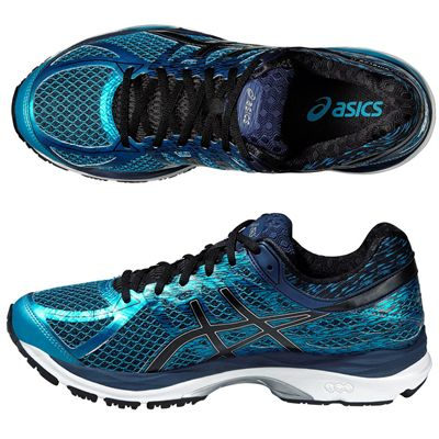 Asics Gel-Cumulus 17 Mens Running Shoes - Blue/Black - Top/Side