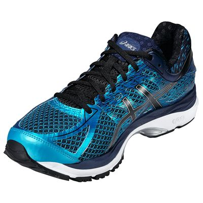Asics Gel-Cumulus 17 Mens Running Shoes - Blue/Black- Front