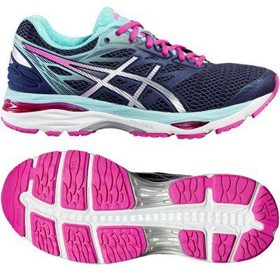 Asics Gel-Cumulus 18 Ladies Running Shoes-Blue-Silver-Pink