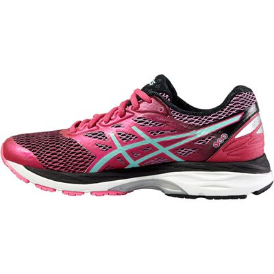 Asics Gel-Cumulus 18 Ladies Running Shoes-Pink-Blue-Black-Side