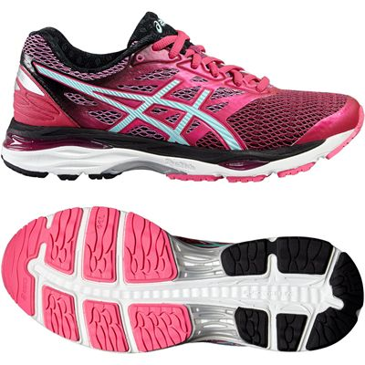 Asics Gel-Cumulus 18 Ladies Running Shoes-Pink-Blue-Black