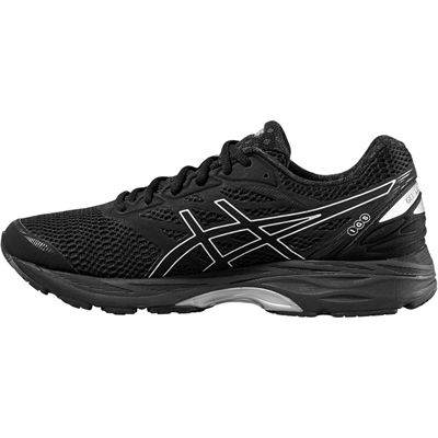 Asics Gel-Cumulus 18 Mens Running Shoes-Black-Silver-Black-Side