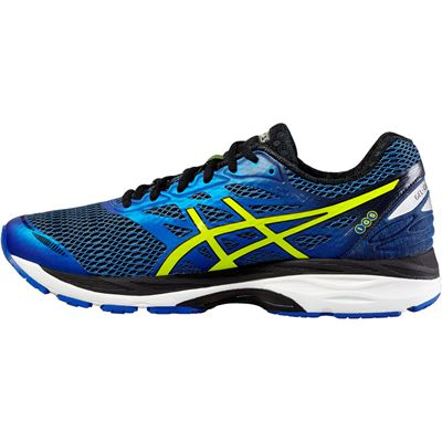 Asics Gel-Cumulus 18 Mens Running Shoes-Blue-Yellow-Black-Side