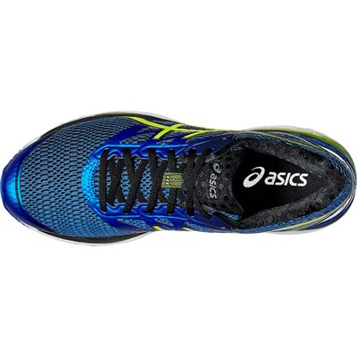 Asics Gel-Cumulus 18 Mens Running Shoes-Blue-Yellow-Black-Top