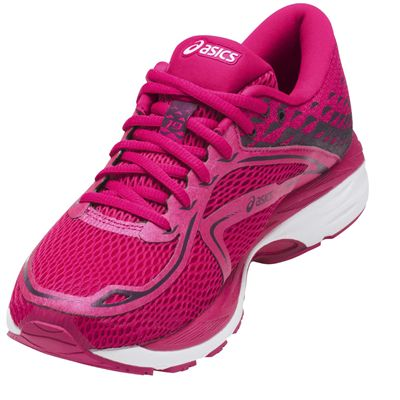 Asics Gel-Cumulus 19 Ladies Running Shoes - Pink/Angled