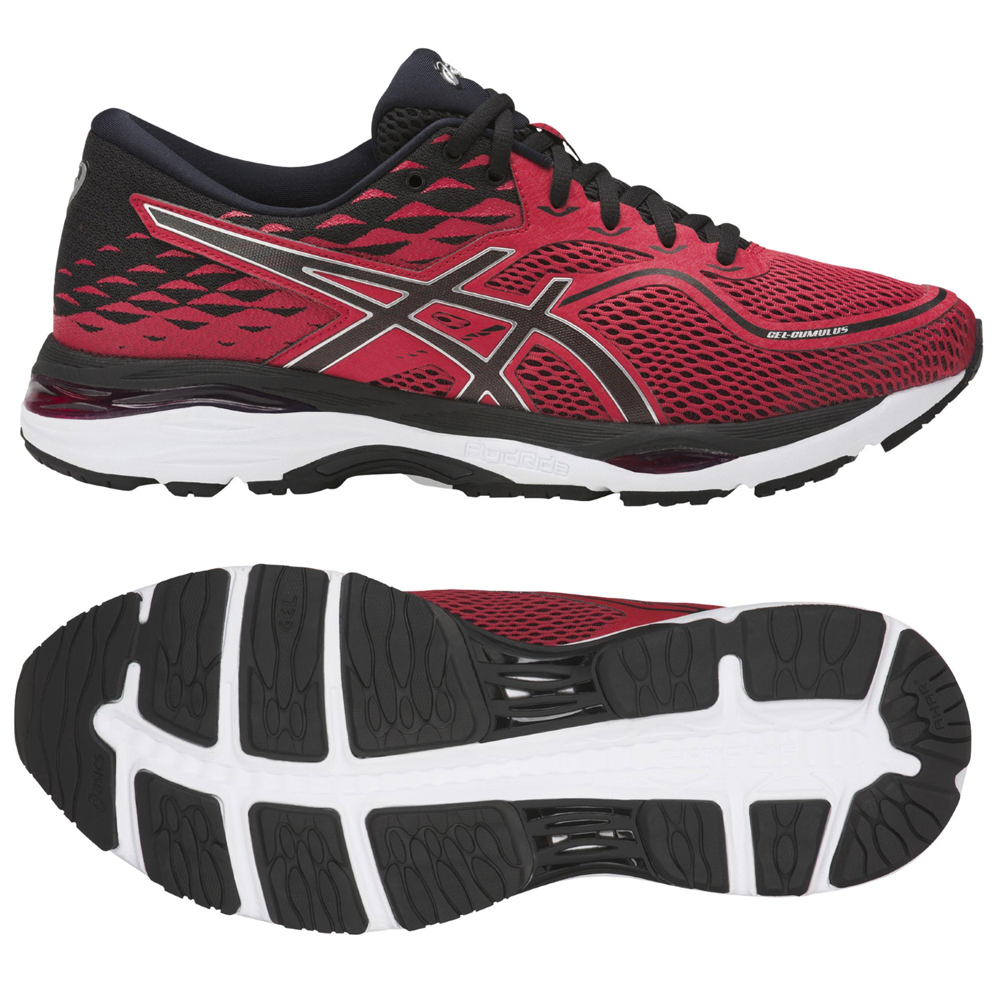 Asics GelCumulus 19 Mens Running Shoes  RedBlack 9 UK