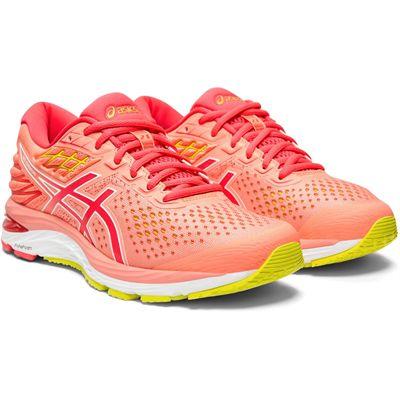 Asics Gel-Cumulus 21 Ladies Running Shoes - Coral - Slant