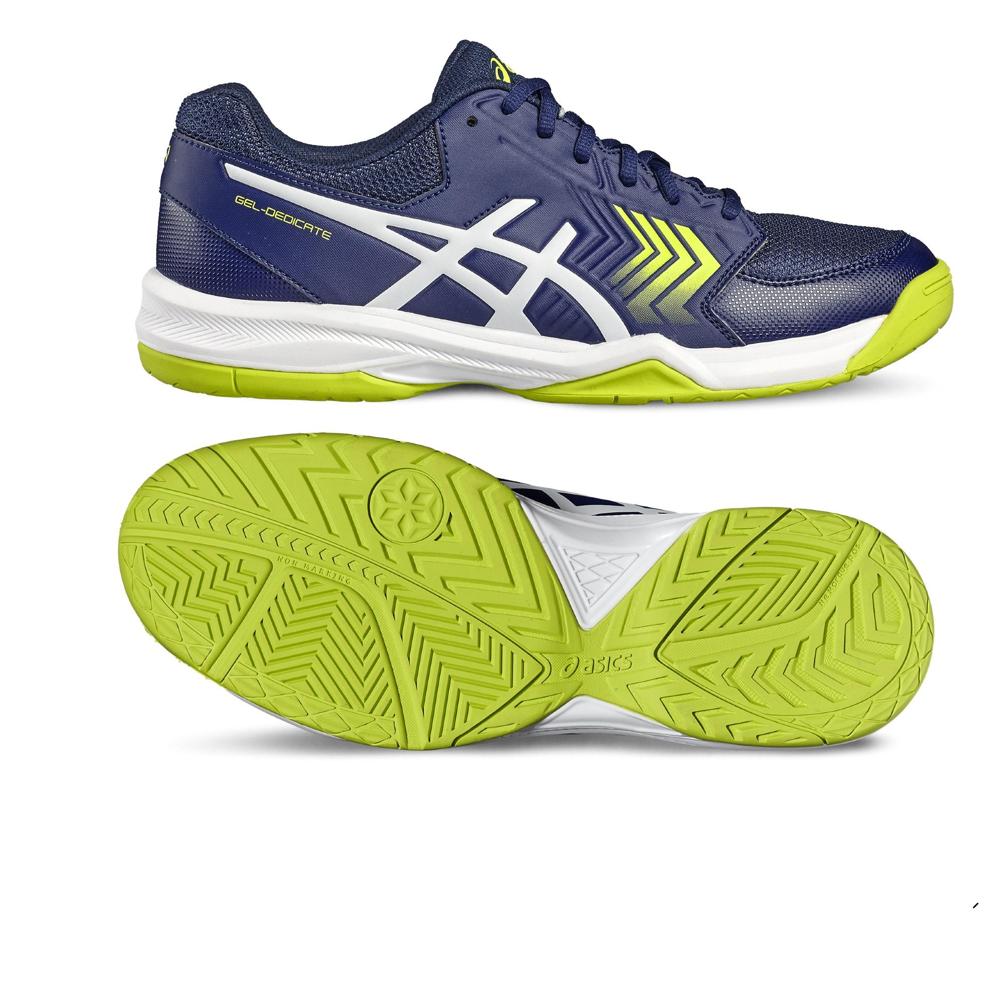 Asics GelDedicate 5 Mens Tennis Shoes  BlueYellow 11.5 UK