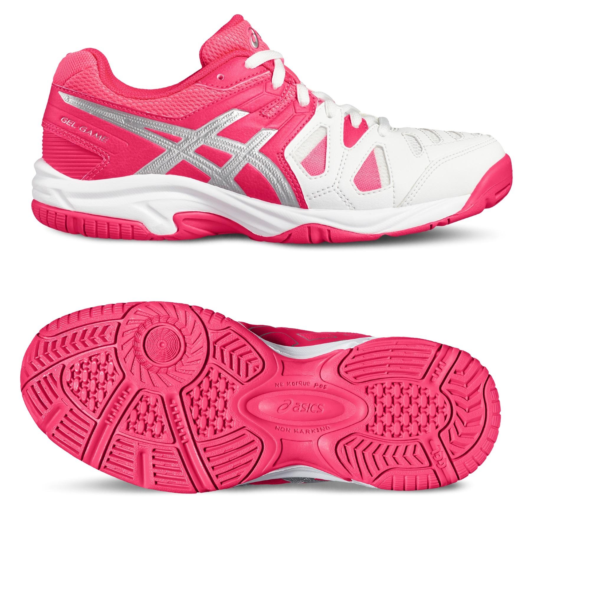 Asics GelGame 5 GS Girls Tennis Shoes  3 UK