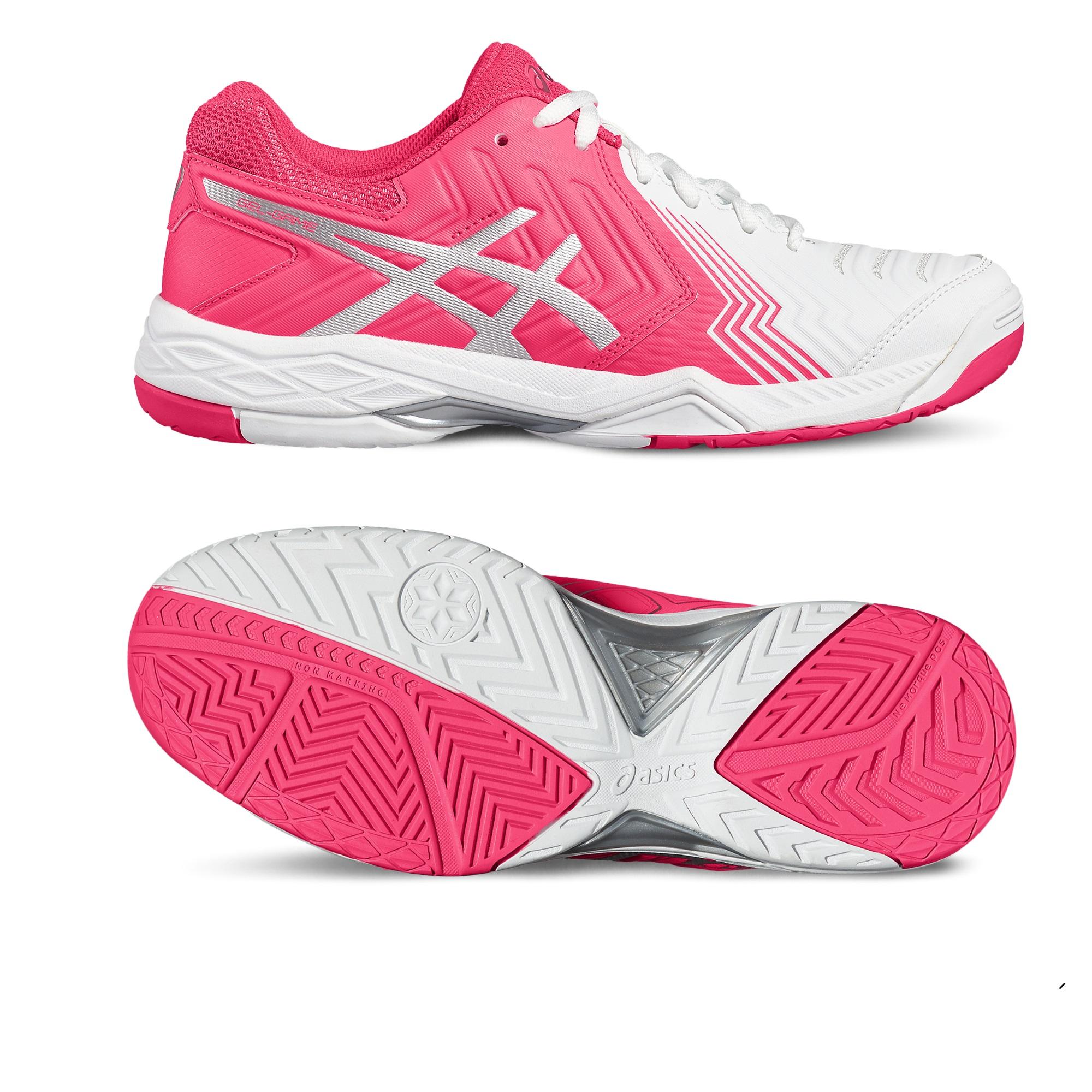 Asics GelGame 6 Ladies Tennis Shoes  WhitePink 7.5 UK