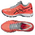 Asics Gel-Kayano 22 Ladies Running Shoes-Red and Black-Alternative View