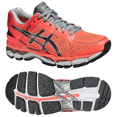 Asics Gel-Kayano 22 Ladies Running Shoes-Red and Black