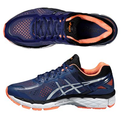 Asics Gel-Kayano 22 Mens Running Shoes-Blue and Silver and Orange-Alternative View