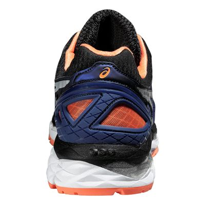 Asics Gel-Kayano 22 Mens Running Shoes-Blue and Silver and Orange-Back View
