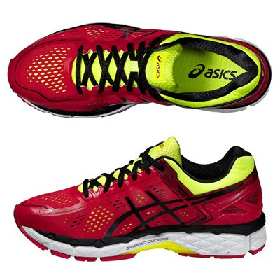 Asics Gel-Kayano 22 Mens Running Shoes-Red and Black and Yellow-Alternative View