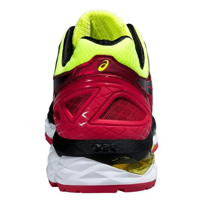 Asics Gel-Kayano 22 Mens Running Shoes-Red and Black and Yellow-Back View