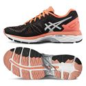 Asics Gel-Kayano 23 Ladies Running Shoes-Black/Silver/Orange