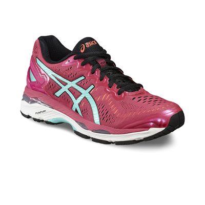 Asics Gel-Kayano 23 Ladies Running Shoes-Pink/Blue/Orange-Angled