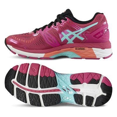 Asics Gel-Kayano 23 Ladies Running Shoes-Pink/Blue/Orange