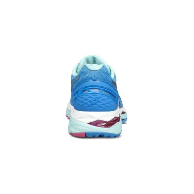 Asics Gel-Kayano 23 Ladies Running Shoes-blue-heel