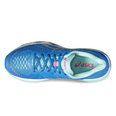 Asics Gel-Kayano 23 Ladies Running Shoes-blue-top