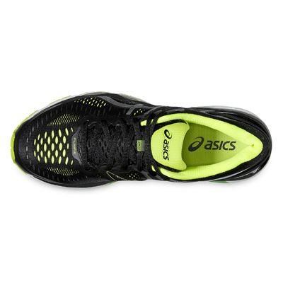 Asics Gel-Kayano 23 Mens Running Shoes-Black/Silver/Yellow-Top