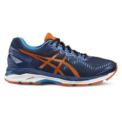 Asics Gel-Kayano 23 Mens Running Shoes-Navy/Orange/Blue-Side