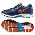 Asics Gel-Kayano 23 Mens Running Shoes-Navy/Orange/Blue
