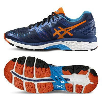 Asics Gel-Kayano 23 Mens Running Shoes-Navy/Orange/Blue