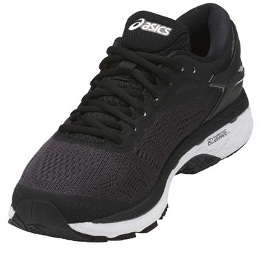 Asics Gel-Kayano 24 Ladies Running Shoes - Black/Angled