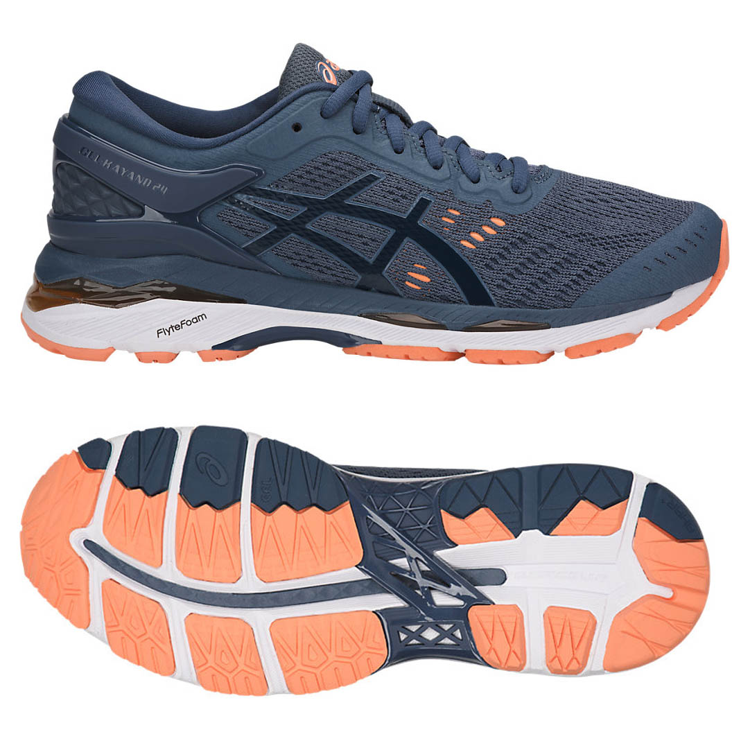 asics gel kayano 24 ladies running shoes ss18 5 uk all these deals. Black Bedroom Furniture Sets. Home Design Ideas