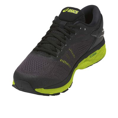 Asics Gel-Kayano 24 Mens Running Shoes - Black - Angled2