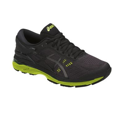 Asics Gel-Kayano 24 Mens Running Shoes - Black - Angled
