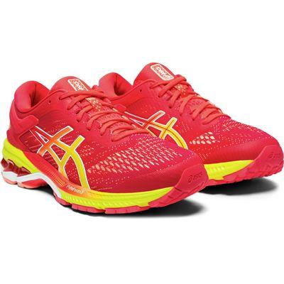Asics Gel-Kayano 26 Ladies Running Shoes - Pink - Angled