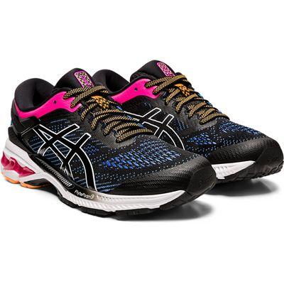 Asics Gel-Kayano 26 Ladies Running Shoes SS20 - Black - Front