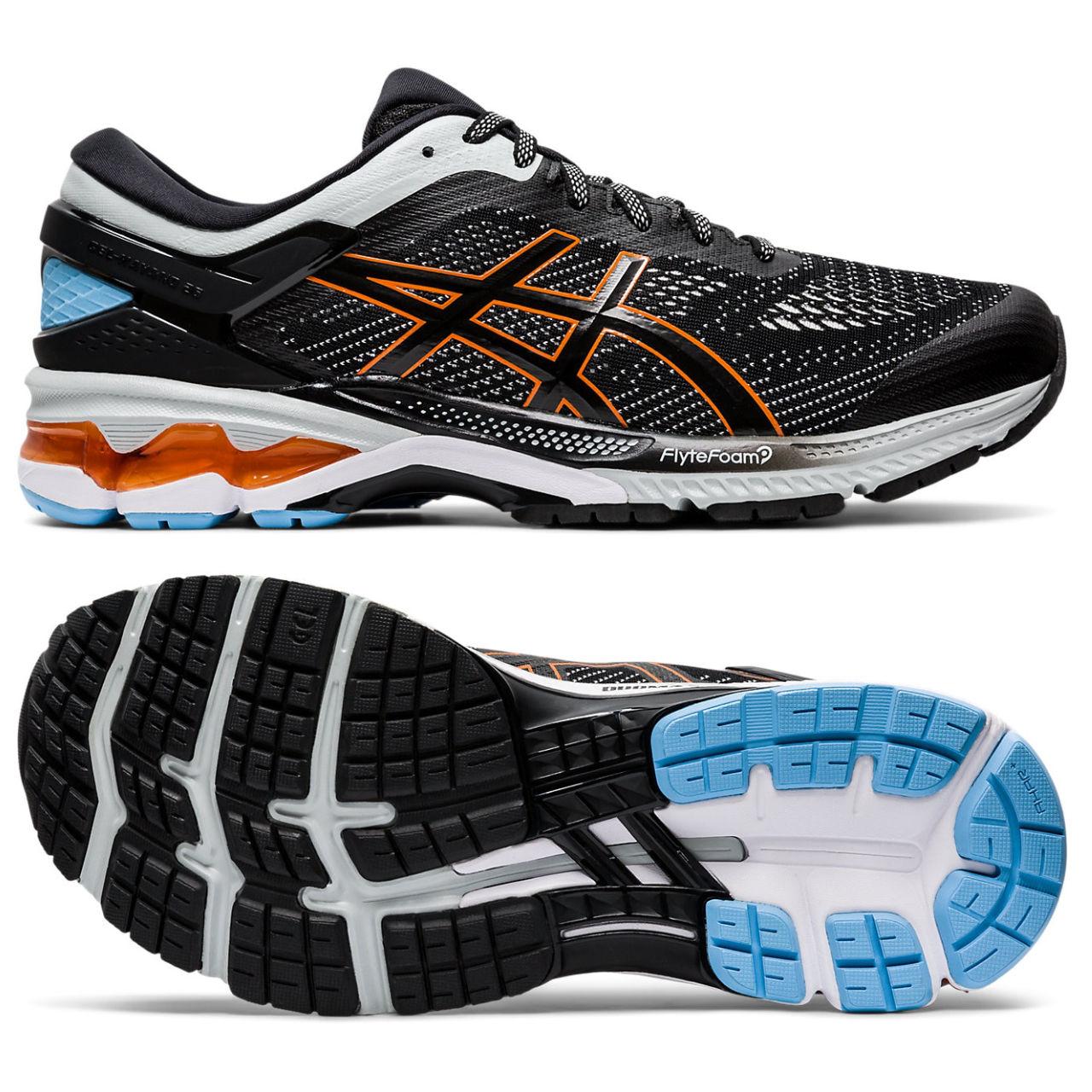 Asics Gel-Kayano 26 Mens Running Shoes - Black, 8 UK