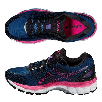 Asics Gel-Nimbus 17 Ladies Running Shoes - Blue Pink - Alternative View